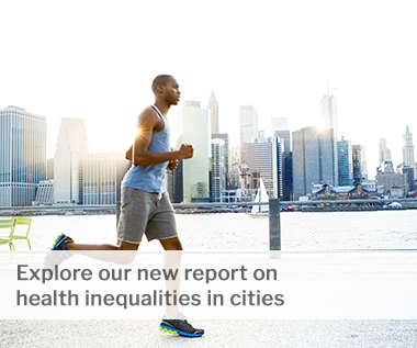 Explore our new report on health inequalities in cities