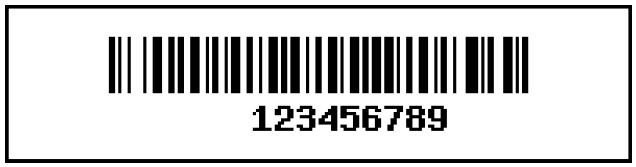 A sample barcode